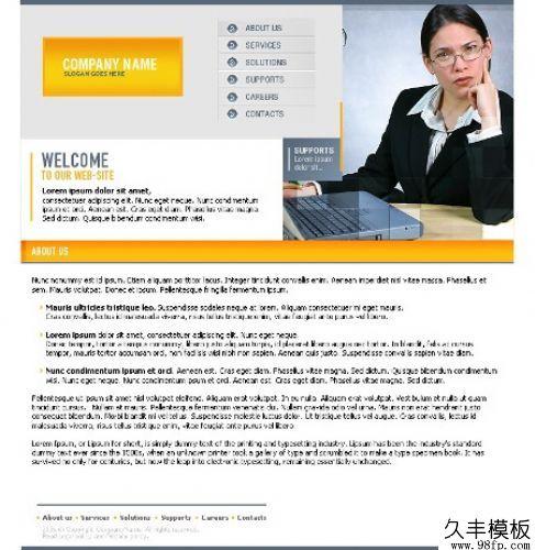 企业网站个人主页flash网页制作模板